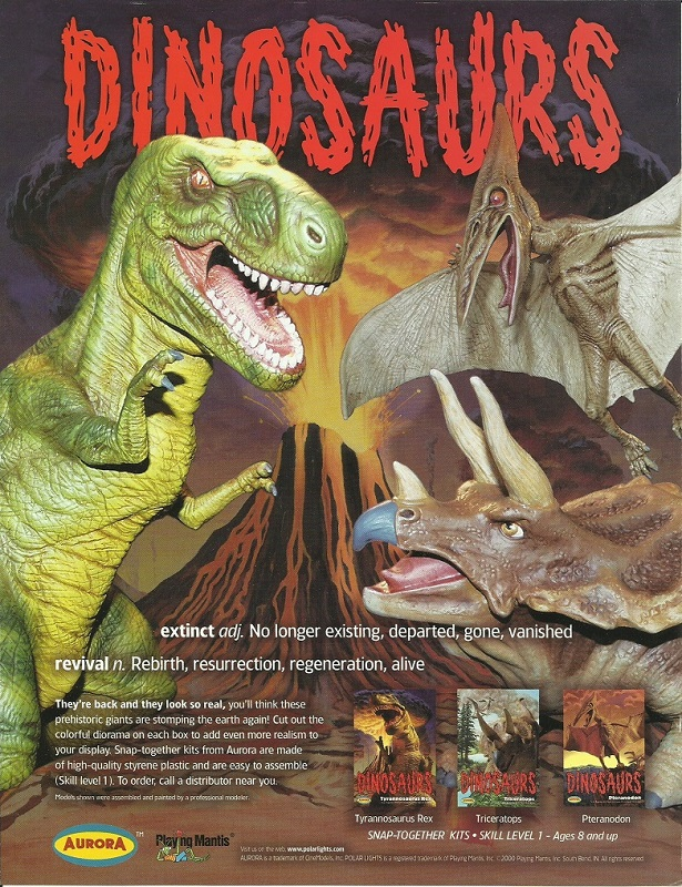 Aurora Dinosaurs promotional flyer