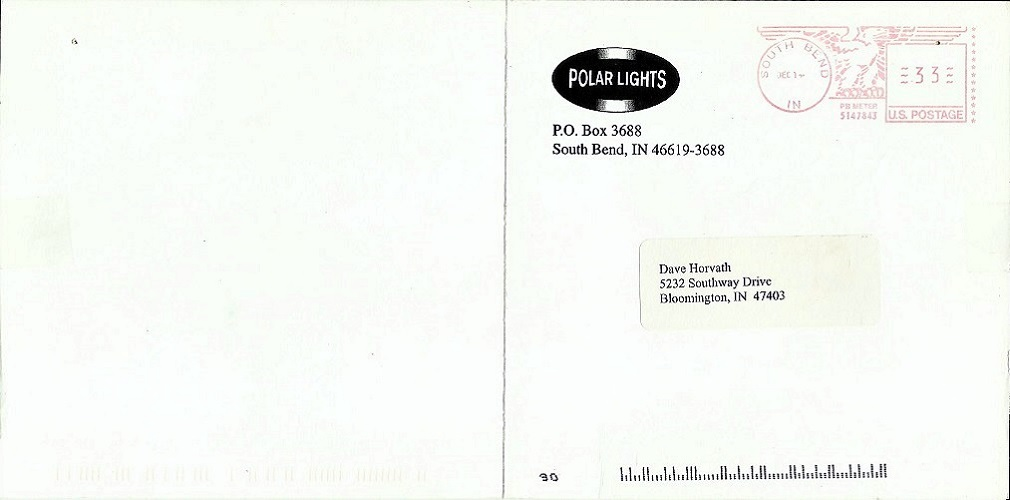 Polar Lights Christmas Card 1999 Exterior