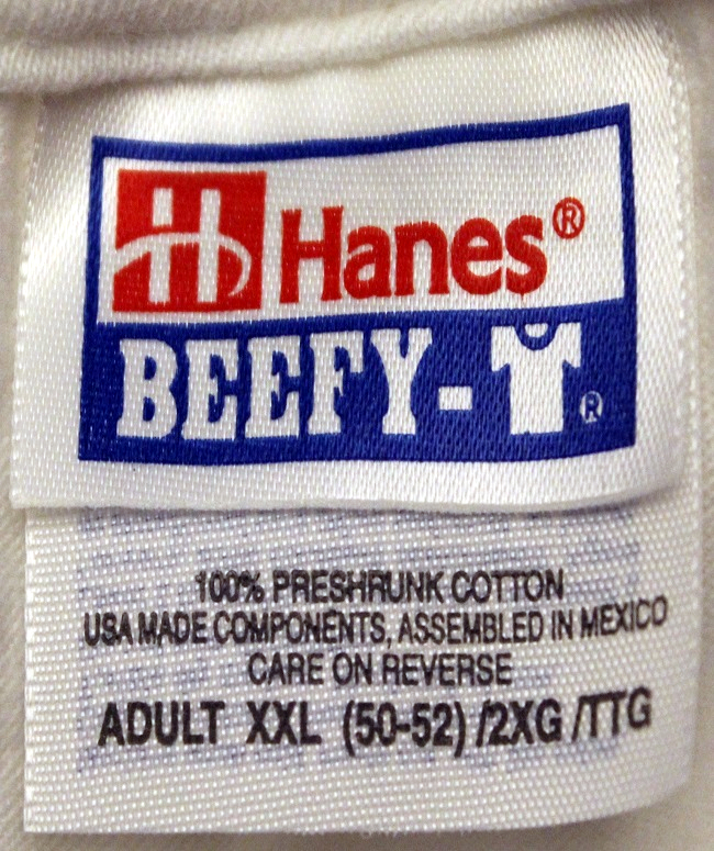 Adult XXL Tags Detail