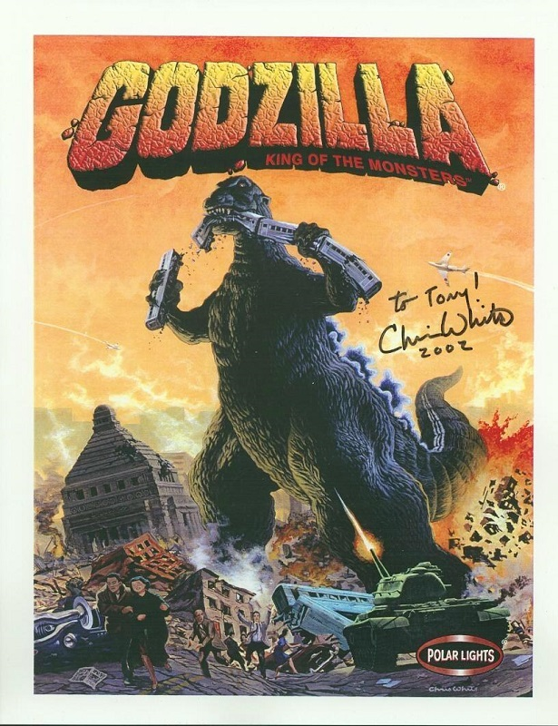 Godzilla King of the Monsters 8x10 glossy autographed by Chris White